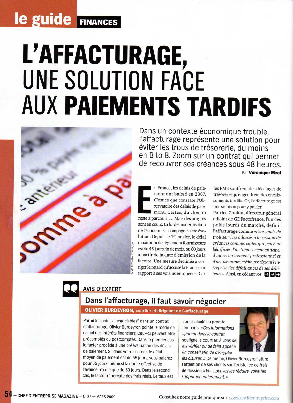 article affacturage